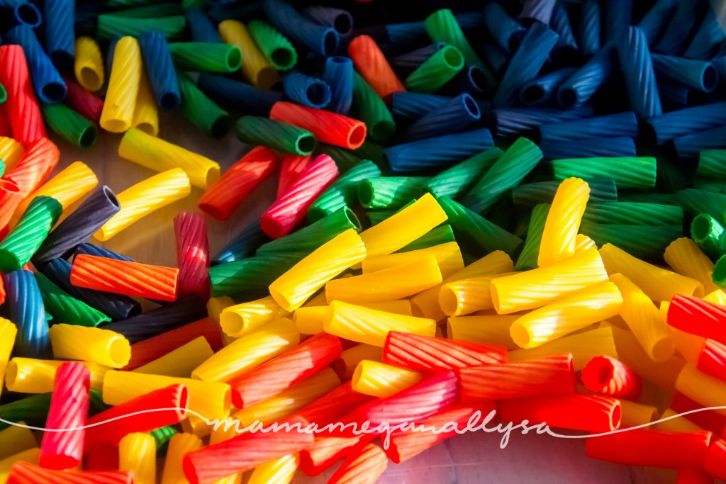 rainbow of noodles