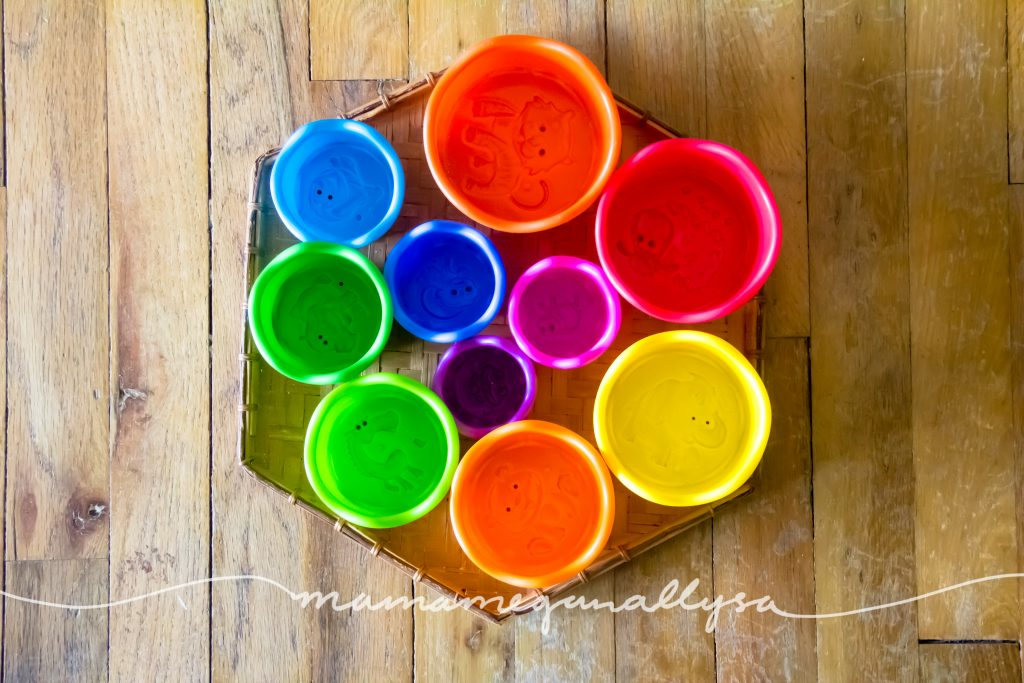 rainbow nestling cups
