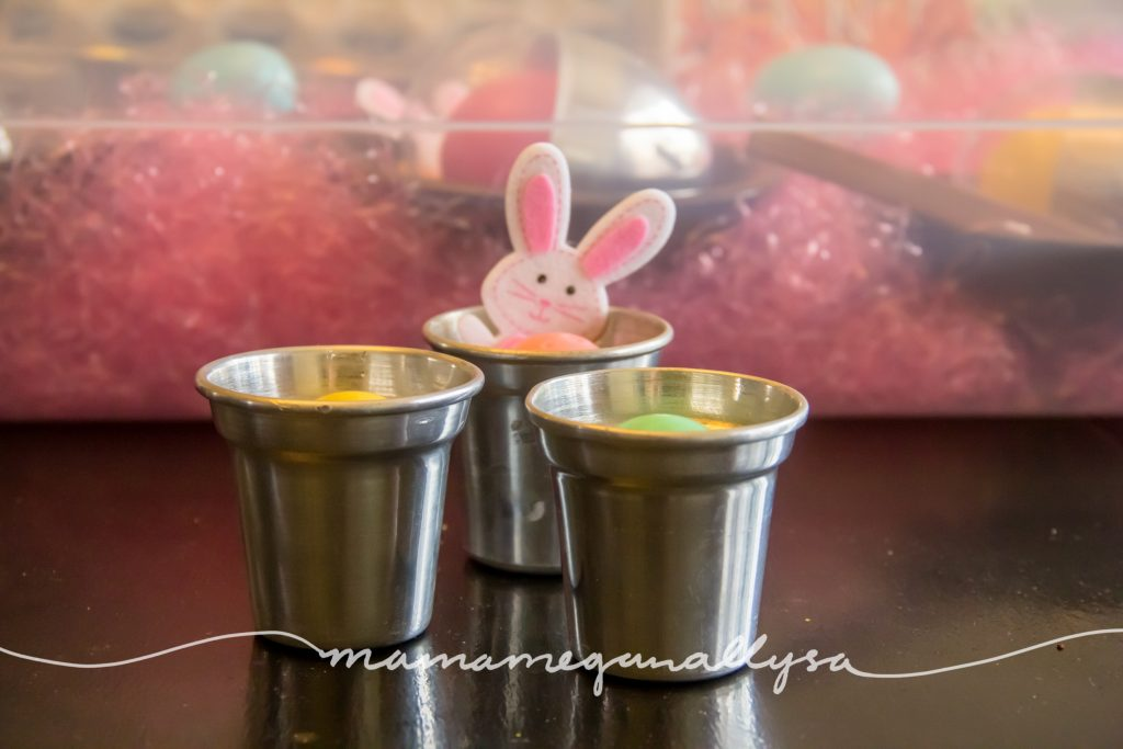 our silver cups and eggs