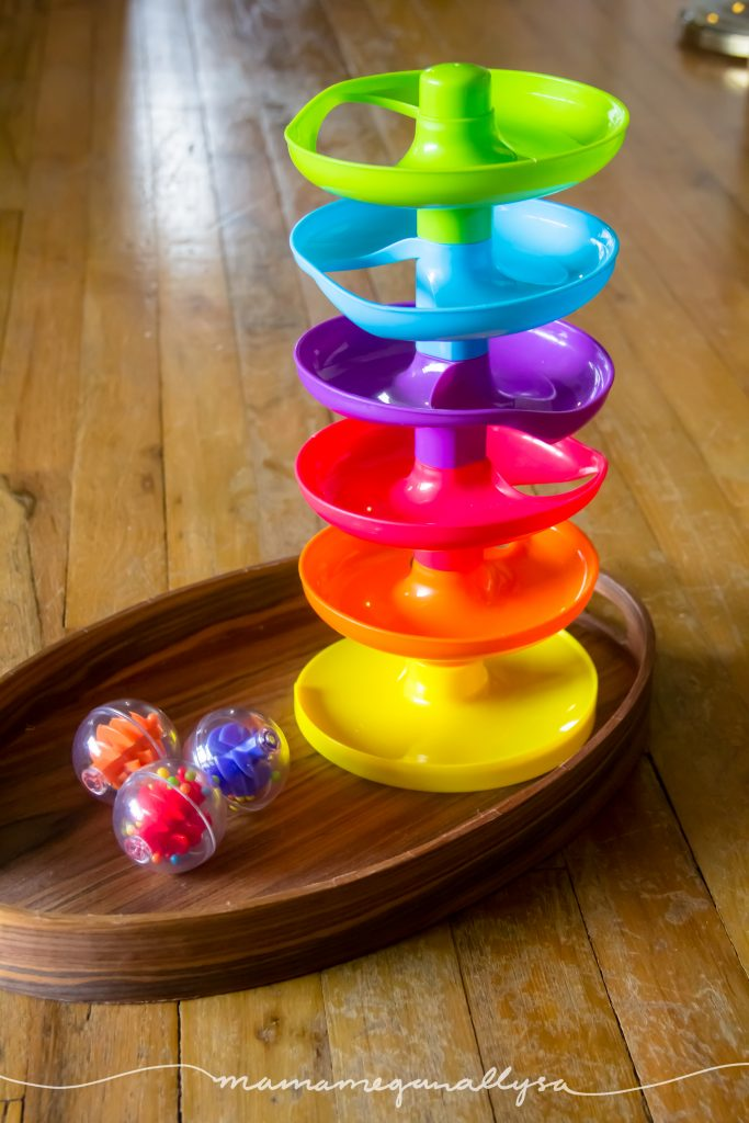out rainbow rattle ball drop