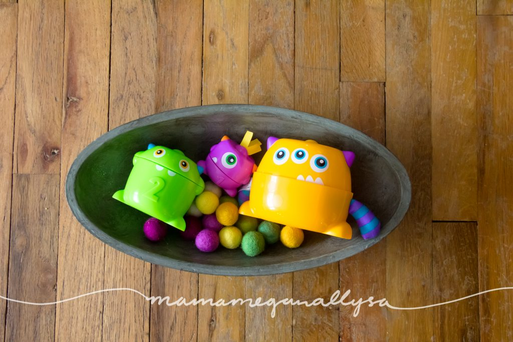 monsters and felt ball food