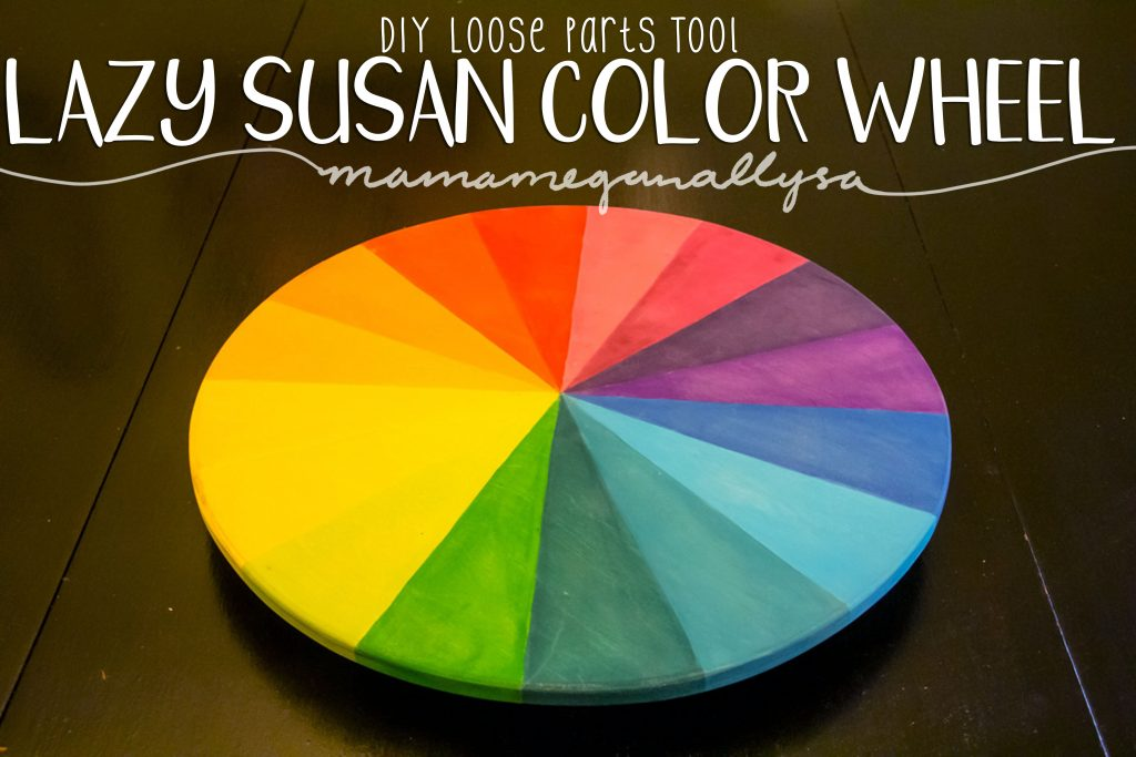 DIY rainbow color wheel lazy susan loose parts tool