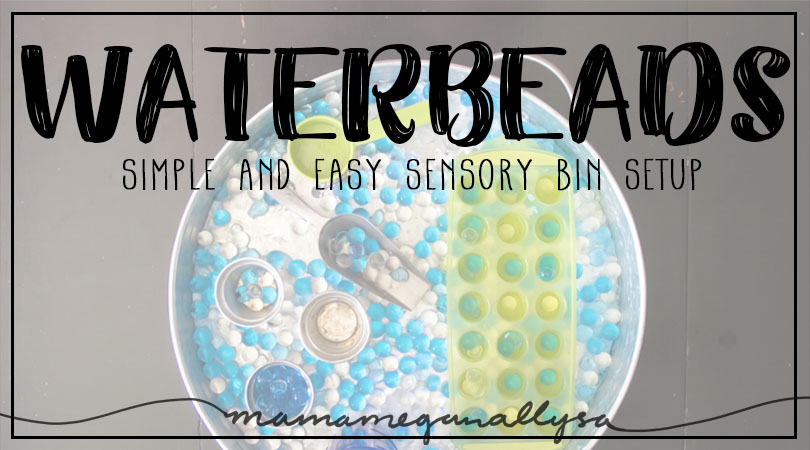 Water bead sensory play is great for fine motor skills as well as all the sensory inputs!