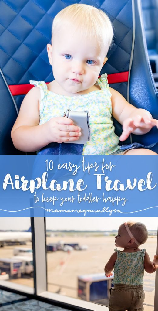 Here are my 10 tips for toddler airline travel - real advice and easy things to make your next flight a breeze!