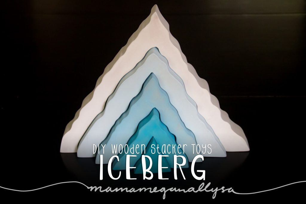 DIY stacker Toys : The Iceburg : From pure white to a vivid aqua at its center