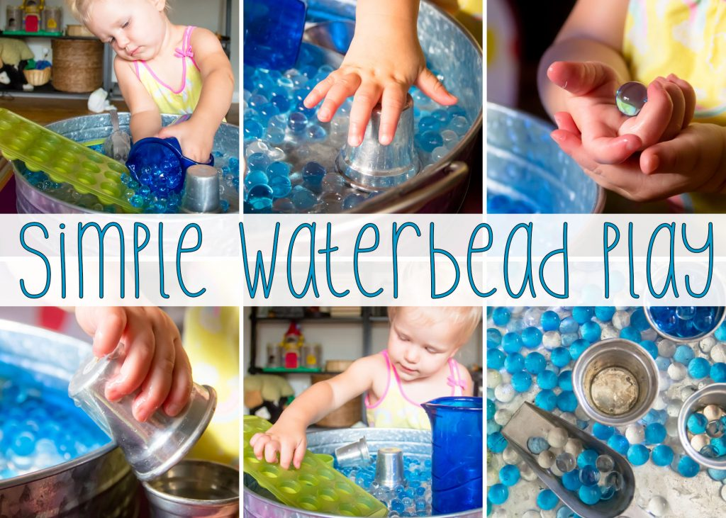 Water bead sensory play can be so simple and yet so much fun!
