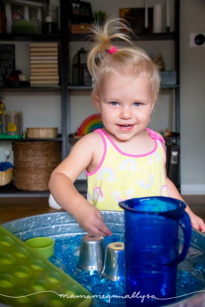 We really enjoy our simple water bead sensory play