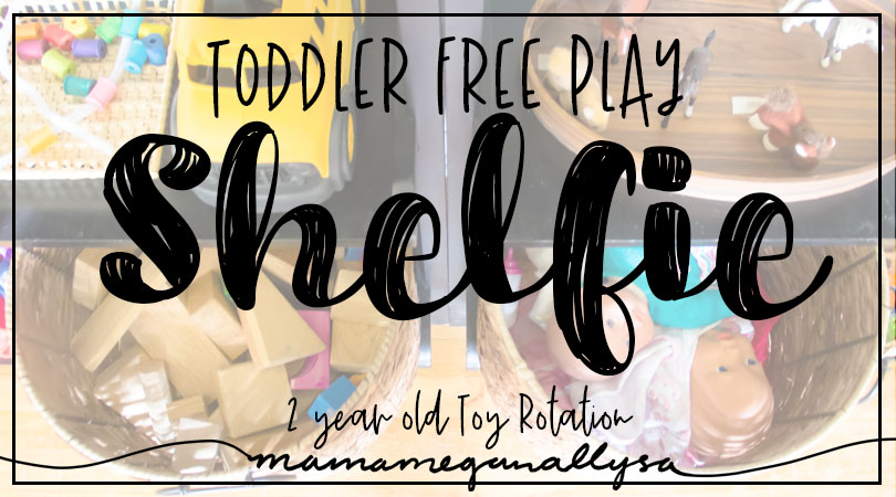 Our Toddler free play toy rotations keep toys new and exciting as well as keep the mess under control!