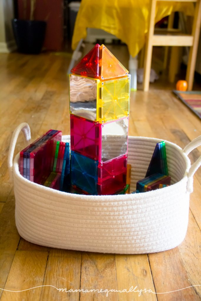 Magnatiles are a family favorite for free play toy rotations. We all love building with them