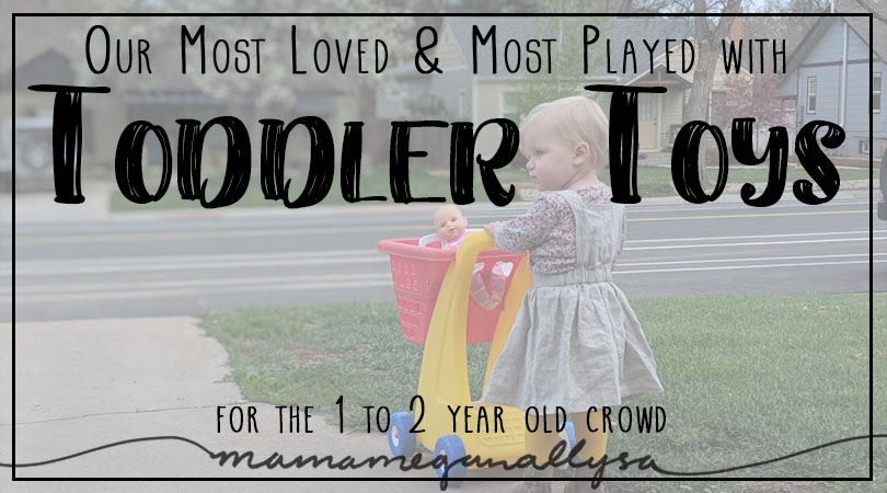 Our most loved and most played with 1-year-old must-have toys, use a lot of gross motor and practical life skills!