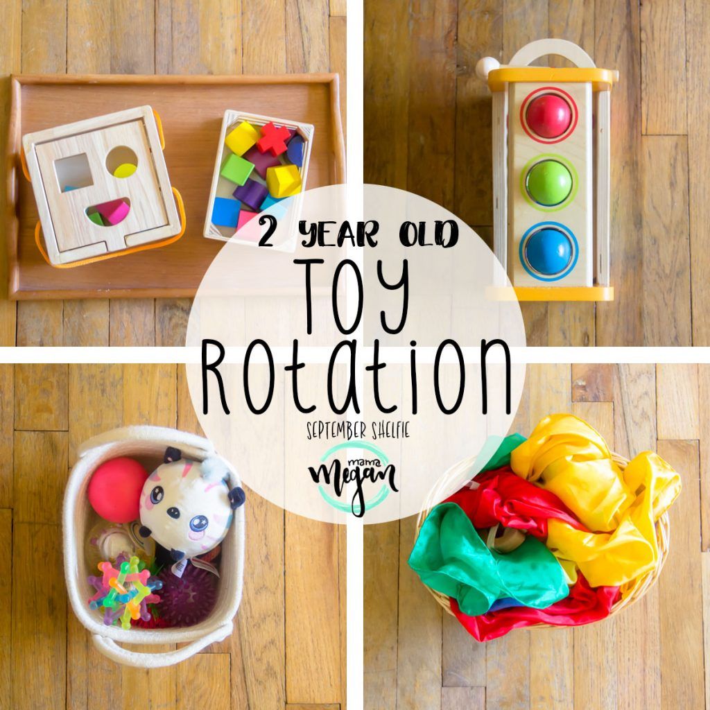 our 2 year old toy rotation system is bound to be interesting as she is getting so much more engaged in play!