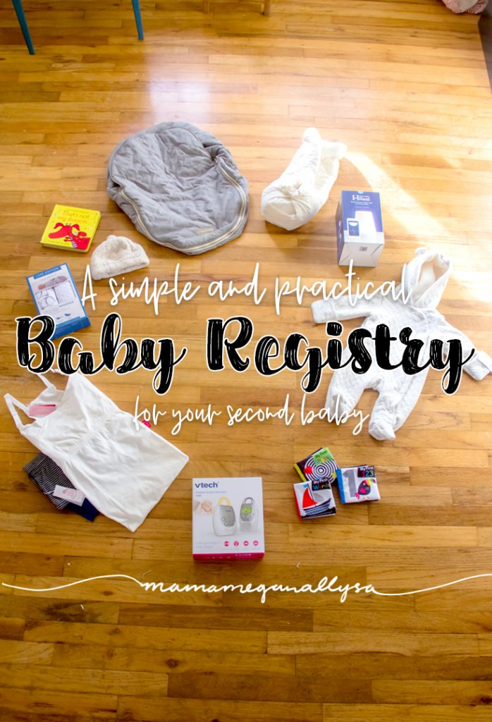 Keeping our baby registry simple and practical for baby number two