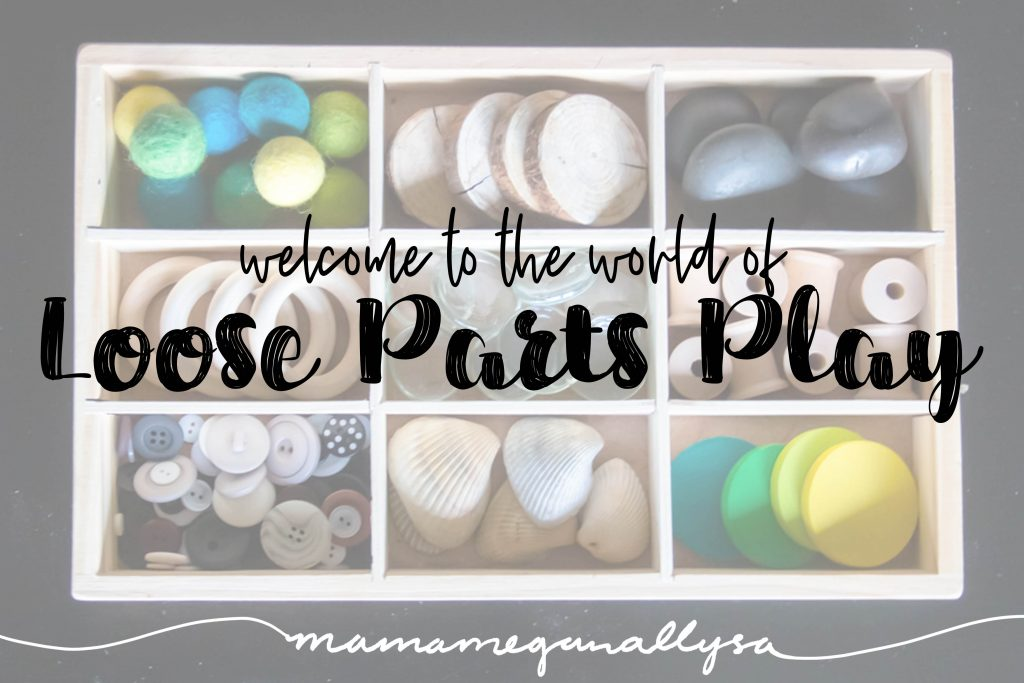 Loose parts toys can be anything from wooden coins, to sea shells to pompoms to toothpicks. Its all about letting the kids decide what they want them to be