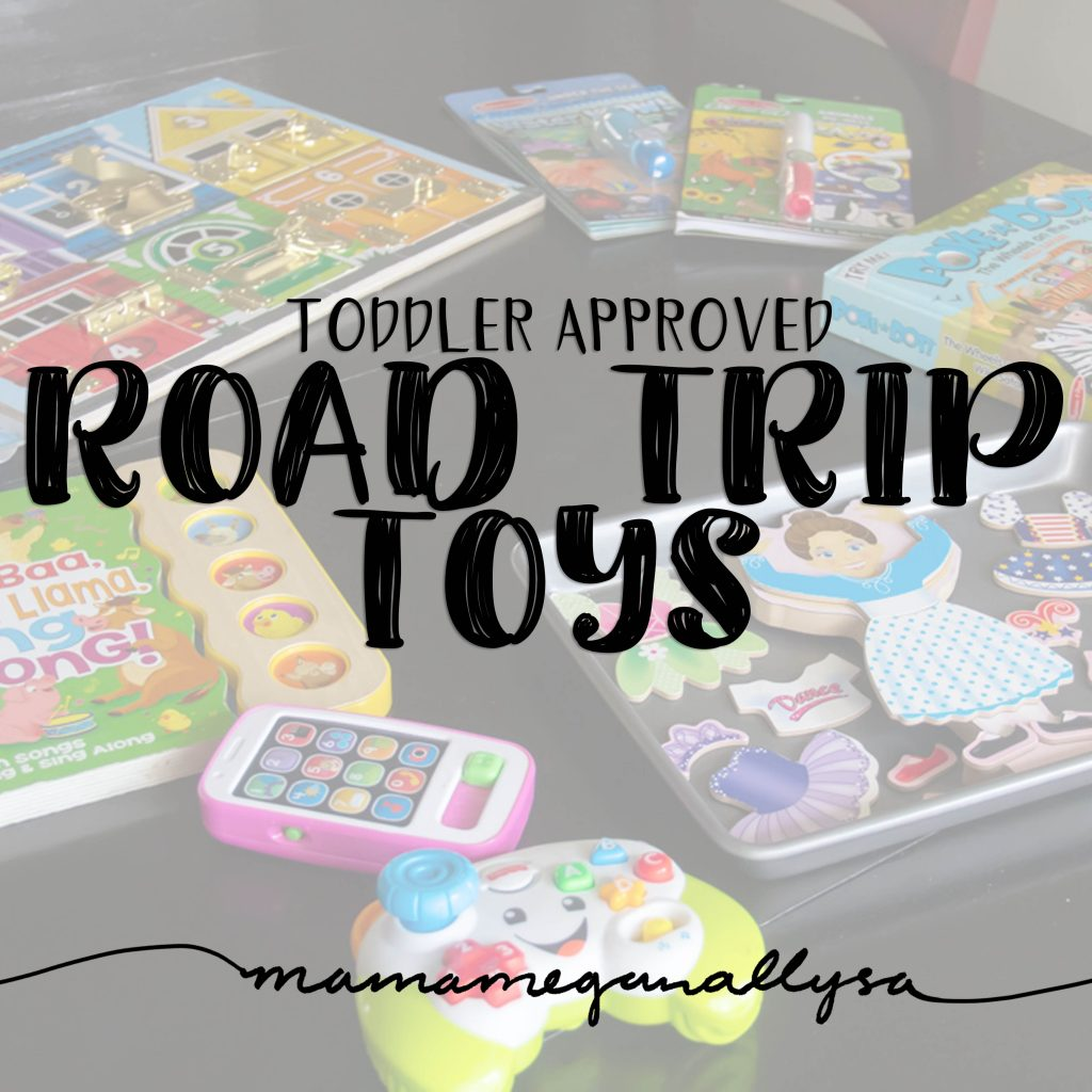 My toddler road trip entertainment essentials are all tried and true favorites for the road. Some offer independent play others some interactive time if your able to sit in the back as well!