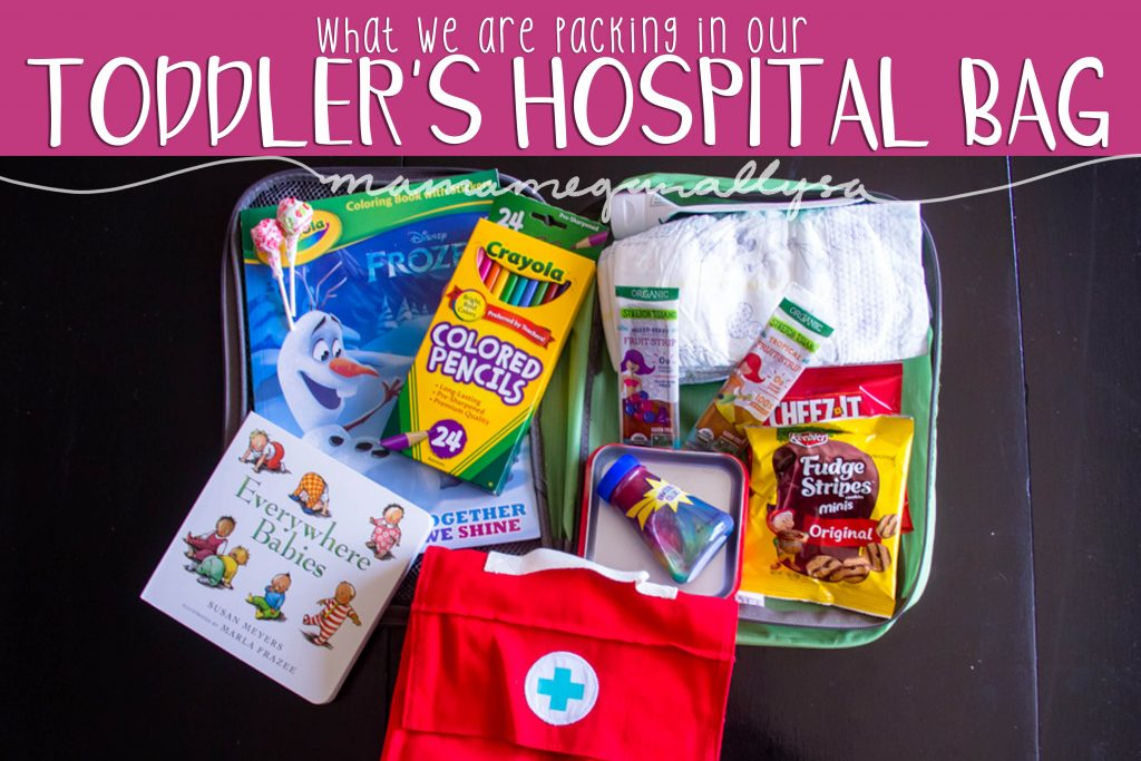 part of baby prepping has been deciding what to do about our toddler! We have packed her her own hospital bag to keep her happy and entertained when she comes to visit us!
