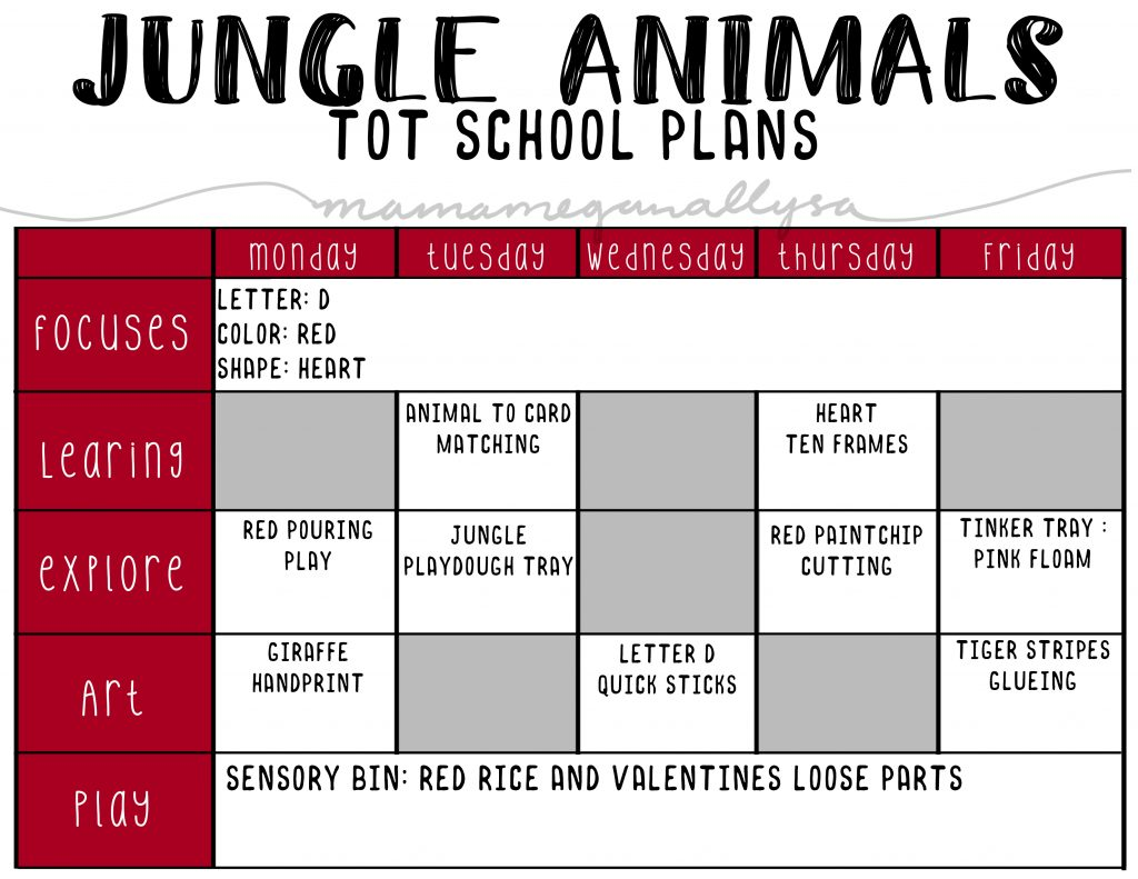 for our Jungle animal theme we will be doing some fun animal themed crafts and lots of animal matching and memory games.
