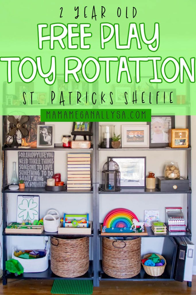 A St. Patrick's Day Toy Rotation for a 2.5 year old with lots of green, rainbows and even some leprechaun gold to play with!