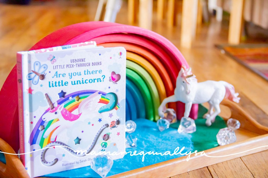The Grimms Rainbow is a perfect addition for a St. Patrick's Day Toy Rotation. The unicorn just adds a little more magic to our playtime!