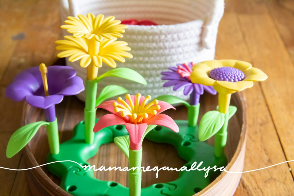 the build a bouquet is great for fine motor as well as customization and creative play The color flower parts can be rearranged how ever you want!