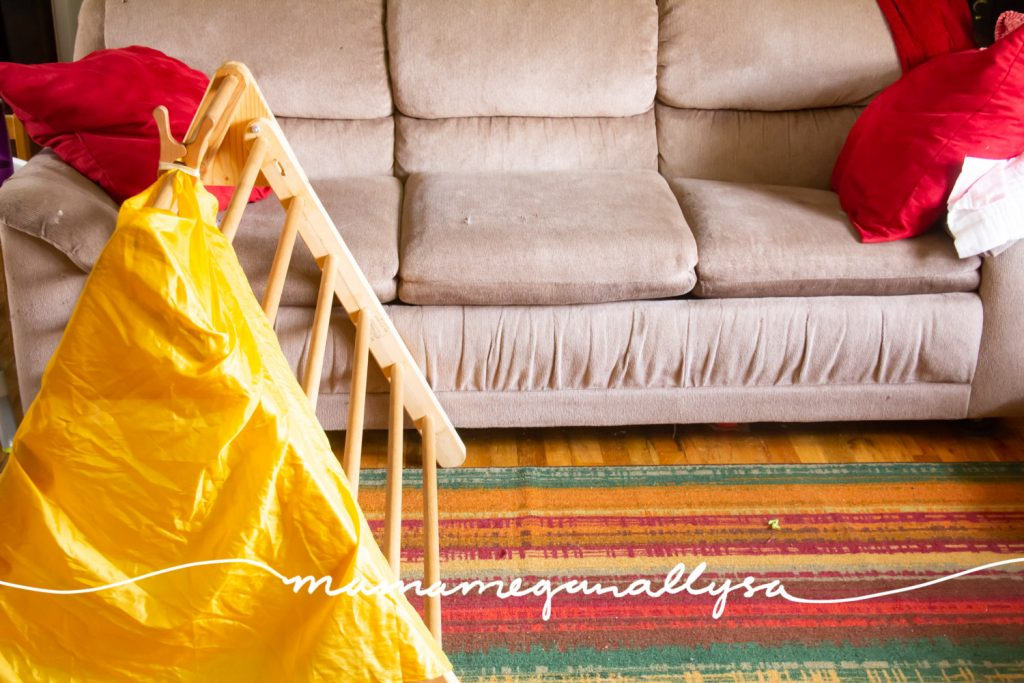 her pikler triangle is a personal favorite of mine for her gross motor needs and it can be a fort with just a quick drape of a silk or blanket!