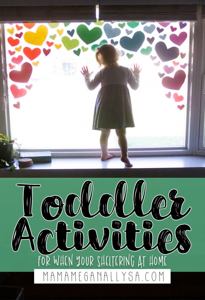 Sheltering at home with a toddler is a daunting idea for most of us. Thankfully keeping them entertained doesn't have to be too complicated! I have a list of over 30 simple ideas to help pass the time!
