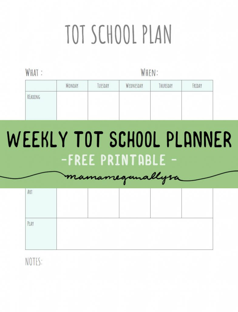 I have a free editable tot school planner available on my blog!