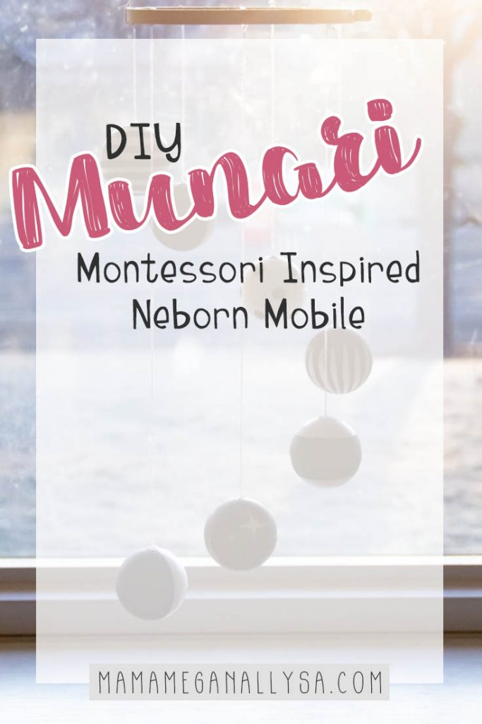 How to make your own high contrast baby mobile, inspired by the Montessori Munari Mobile
