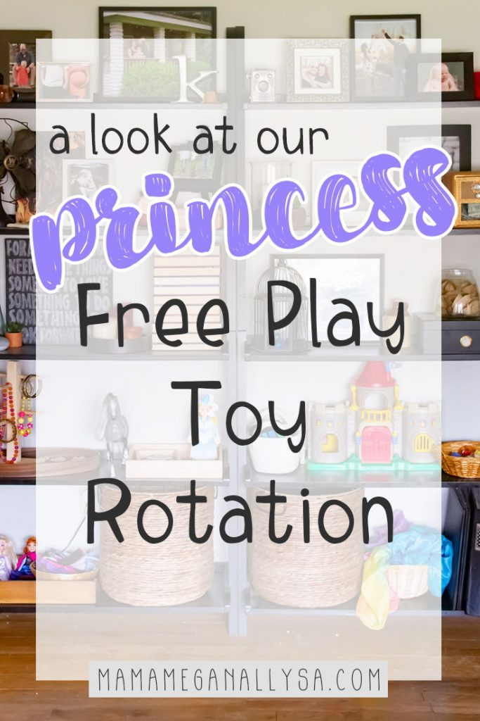 When Frozen fever started to take hold I knew we were in for lots of princess play and boy was I right. This Princess toy rotation has been a huge hit!