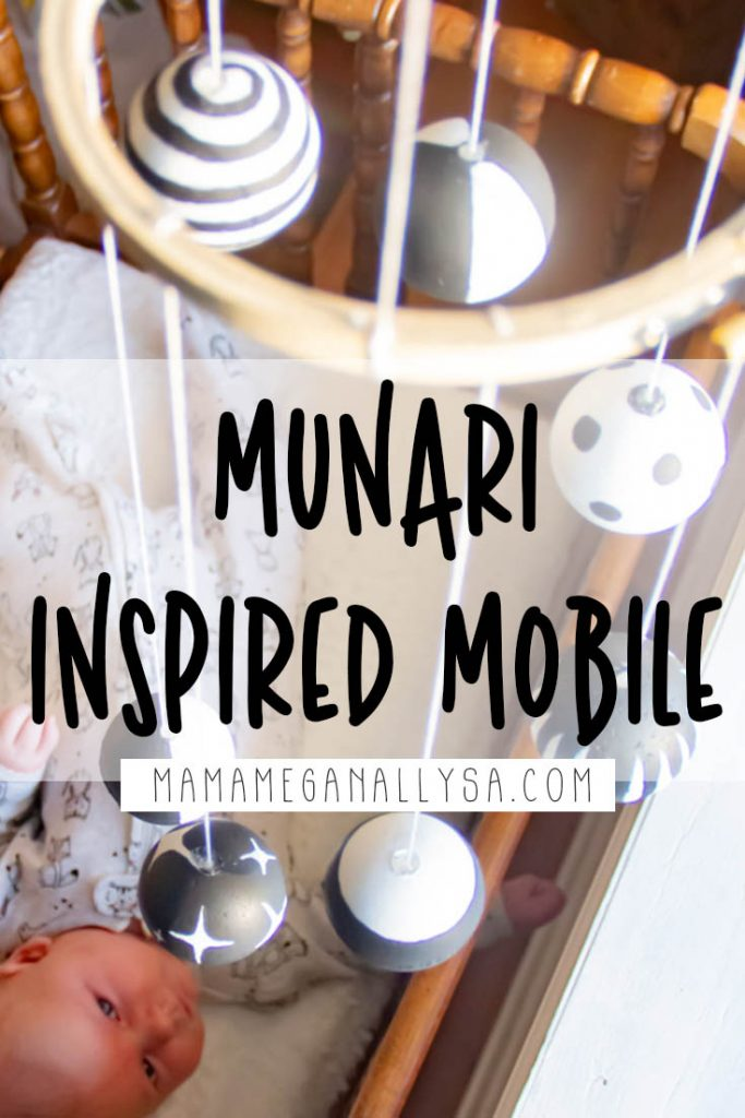 Learn how to make your own high contrast baby mobile, inspired by the Montessori Munari Mobile