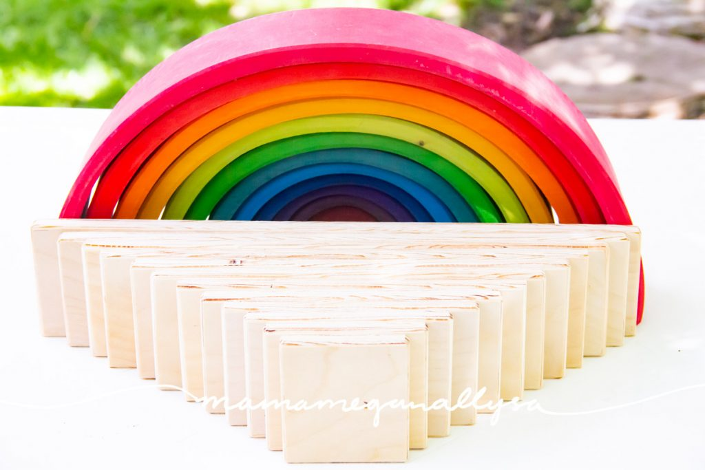 DIY Semicircles and Planks are great additions to your rainbow play!
