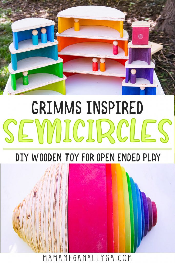 Semicircles offer lots of levels with your rainbow!