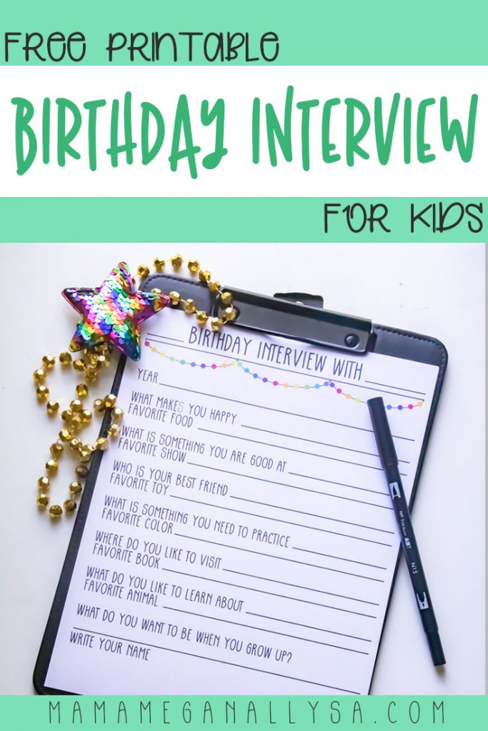 A Birthday Interview is a great way to make sure you jot down even just a few key details about your kid's life before they get lost to the years