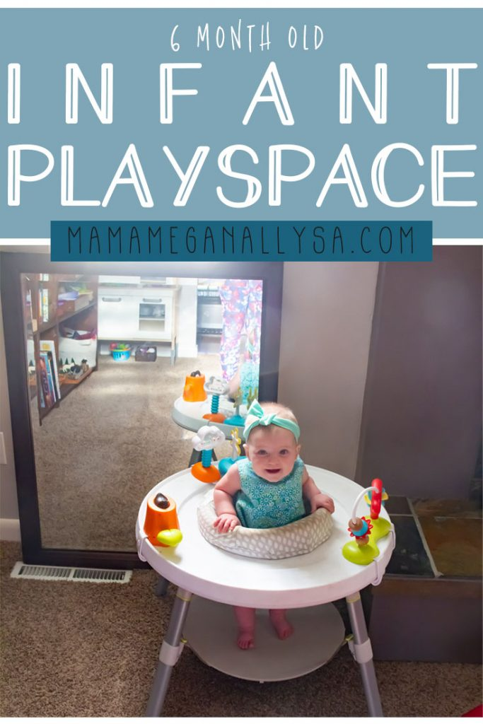 Step inside our simple baby play space at 6 months old in our shared playroom.