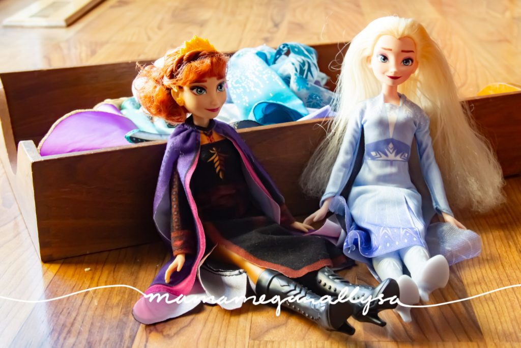What little 3 year olds playroom would be complete without a little Elsa and Anna