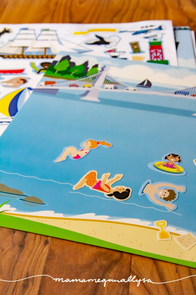 reusable stickers are great for fine motor and story telling