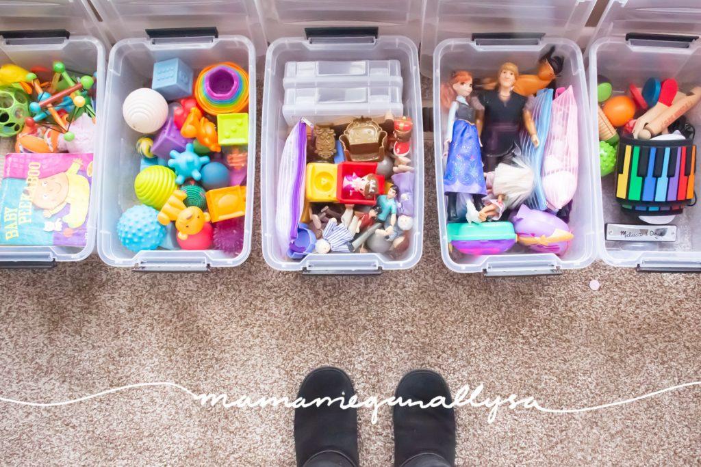 a look inside our medium-sized toy storage bins