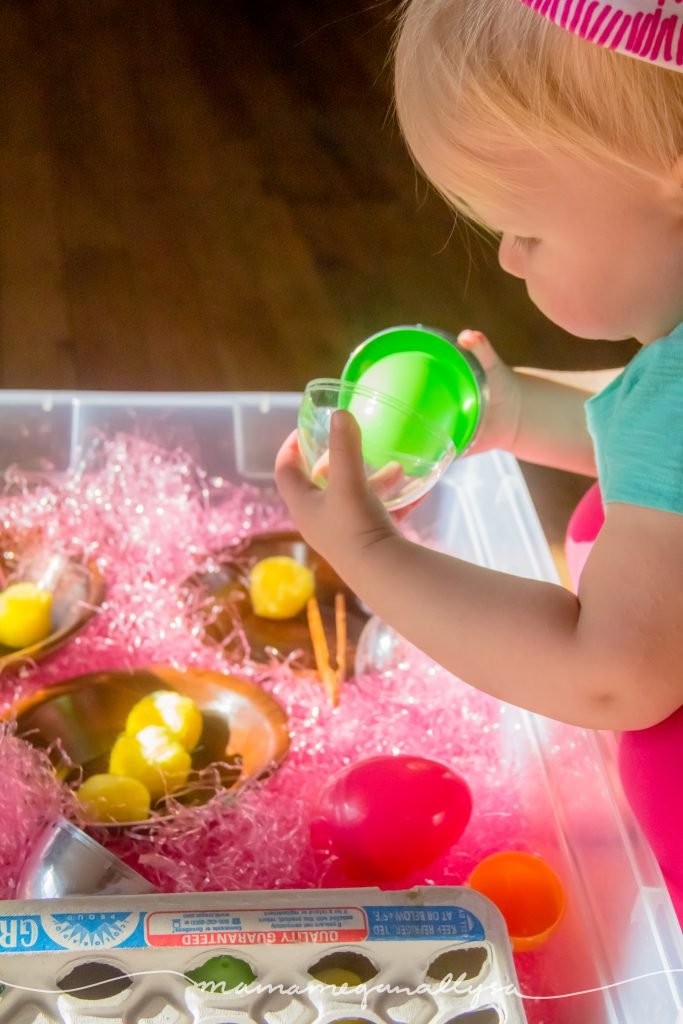 learning to crack easter eggs open