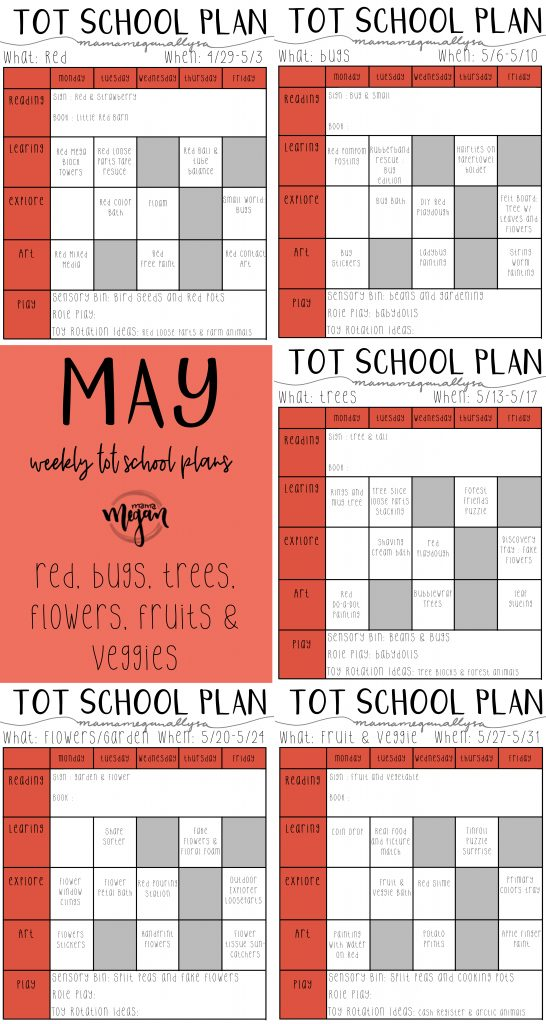 May Tot School lesson plans title card