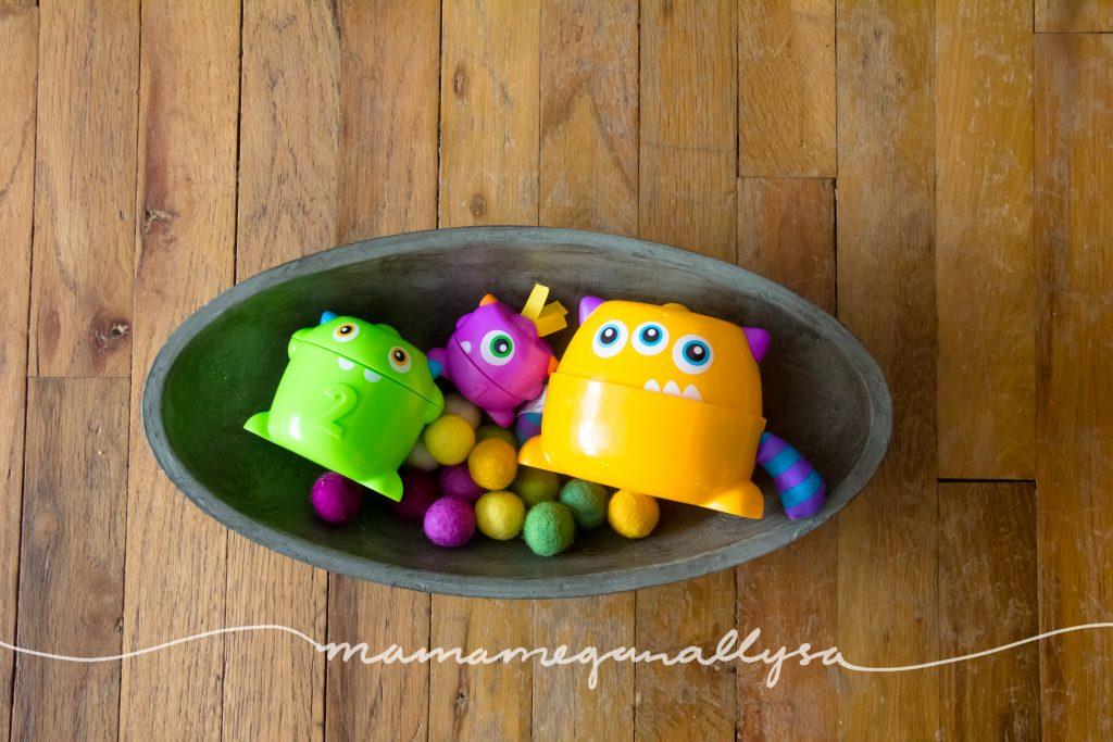 monsters and felt ball food
