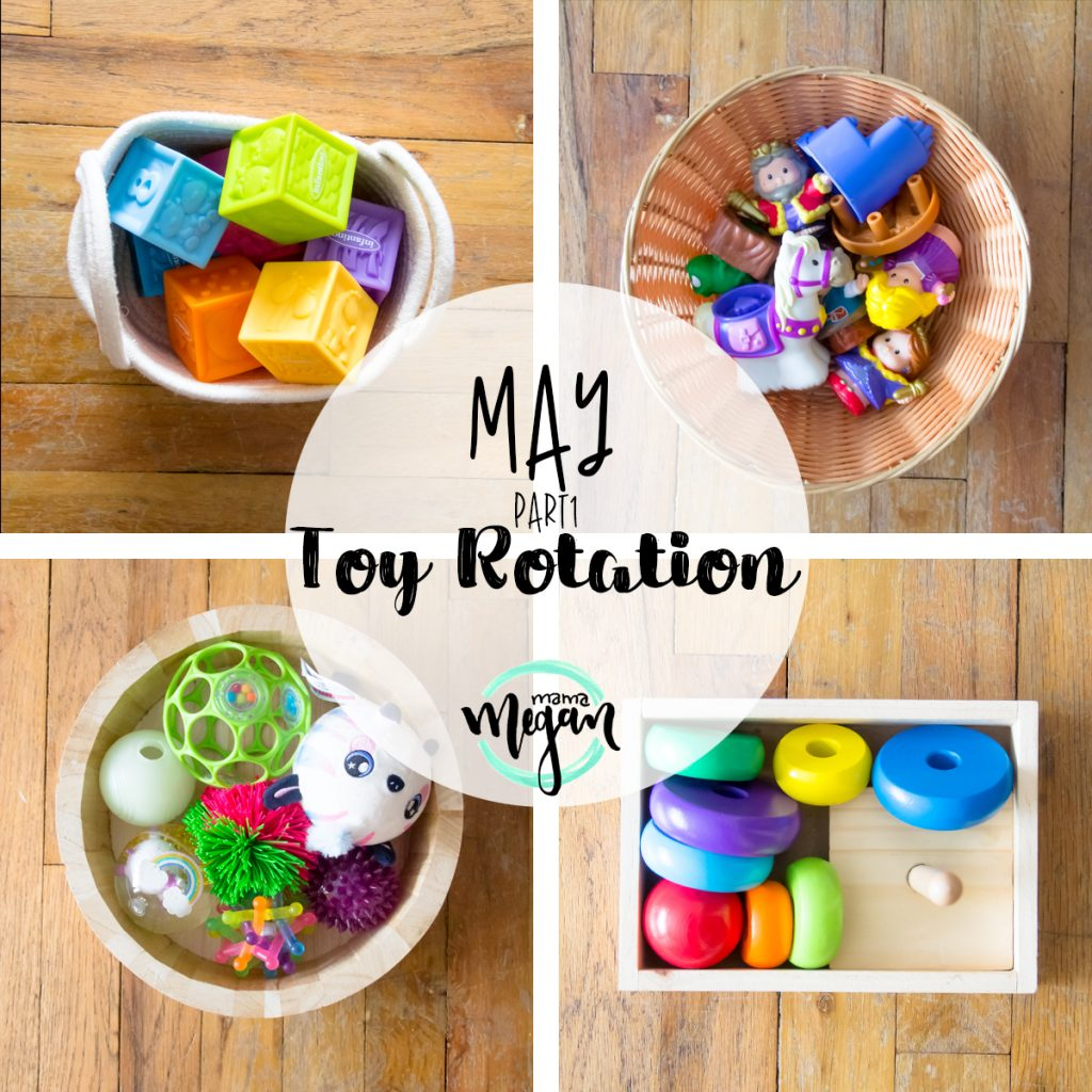 title card for toys on the play shelf