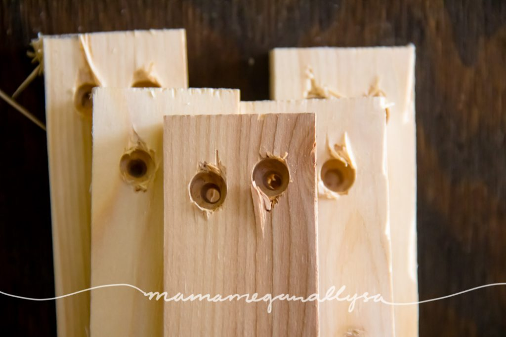 boards with countersink holes drilled in them