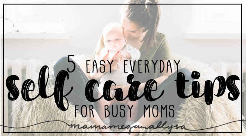 title card for easy everyday mom self care rules