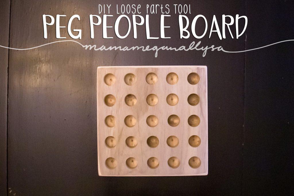 DIY wooden peg people board loose parts tool