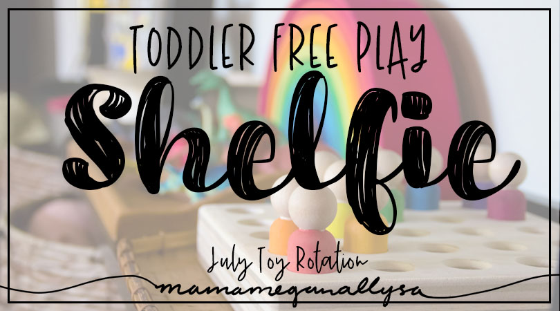 Our Toddler free play space get regular toy rotations every two weeks