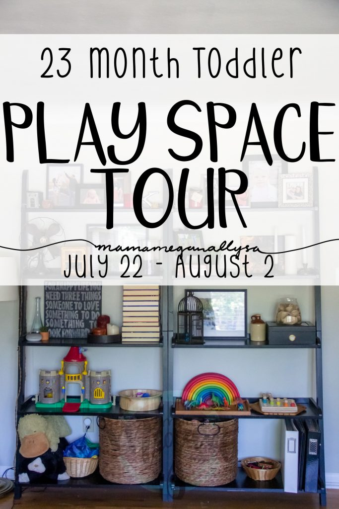 See how we set up toy rotations in our free play space for a nearly 2 year old