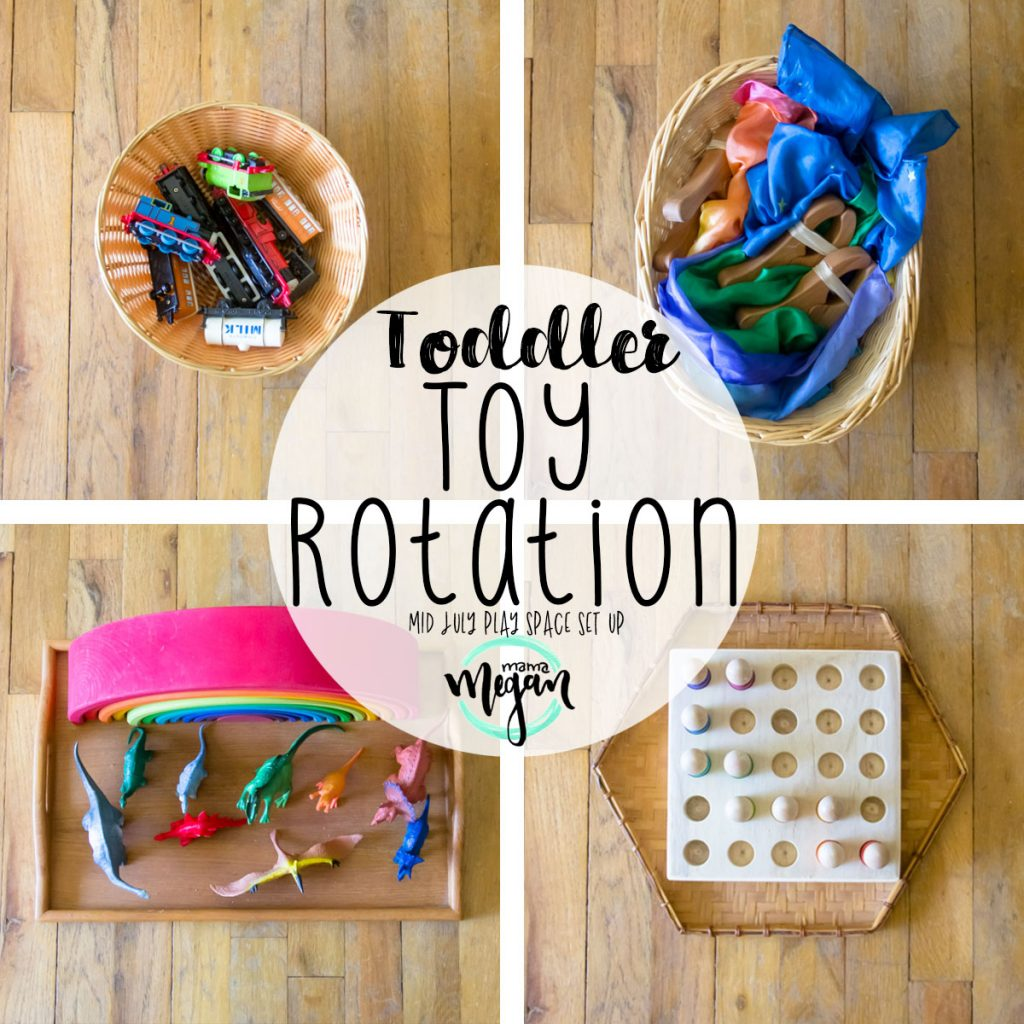 Our Toy rotations are simple and easy this week with lots of encouragement to build and play with blocks