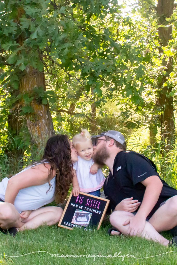 Pregnancy announcement for baby #2 - Big Sister in training