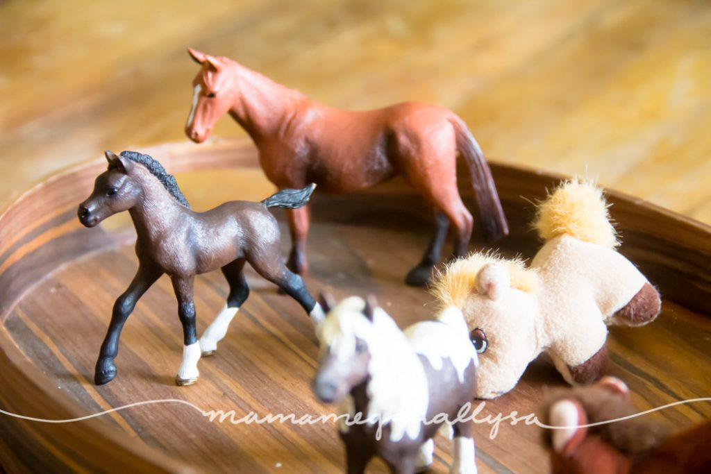 When a toddler has an obsession, why not embrace it? thats what we did with all the horses this week