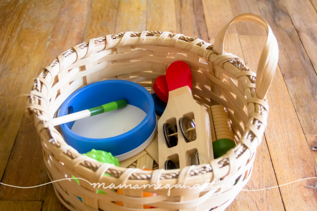Musical instruments are always a good idea for free play toy rotations. What toddler doesn't like music?!