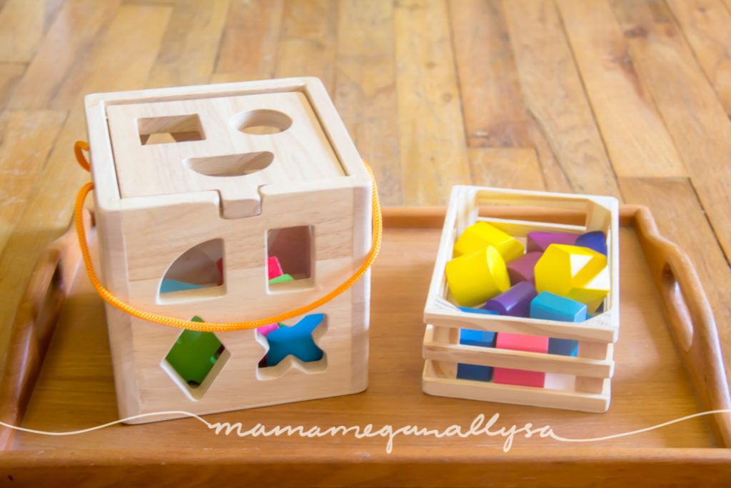 A shape sorter is a classic toy for kids and ours is a little more complicated with lots of sides and shapes, but we are getting there little by little